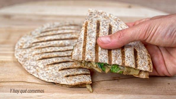 receta de quesadillas con queso y champiñones