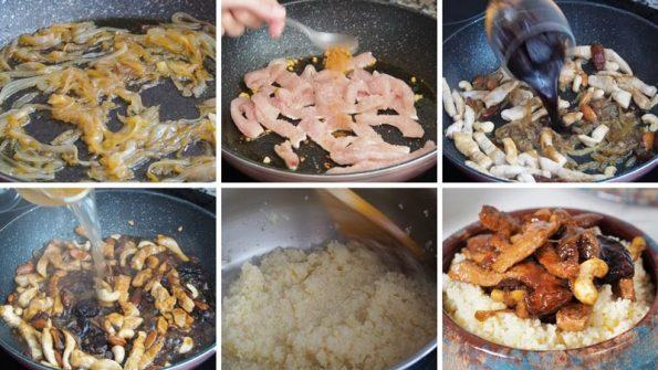 receta paso a paso cuscús de pollo al pedro ximenez