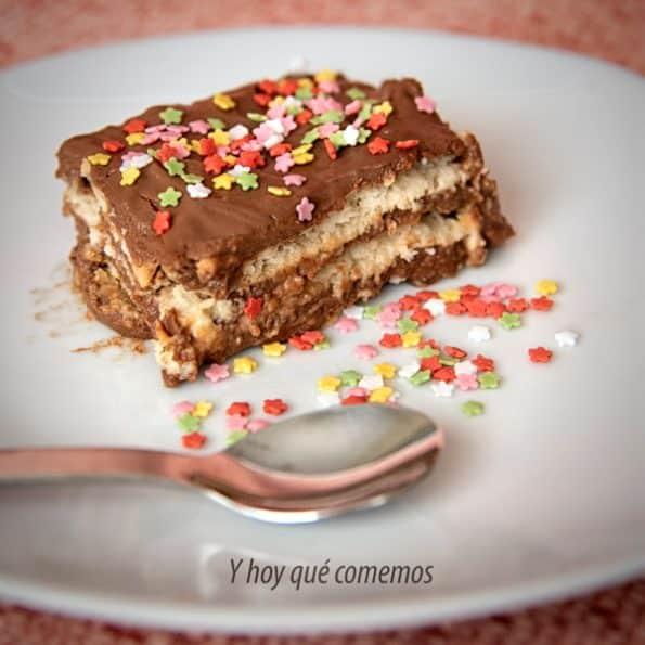 receta de tarta de galletas y chocolate para cumpleaños