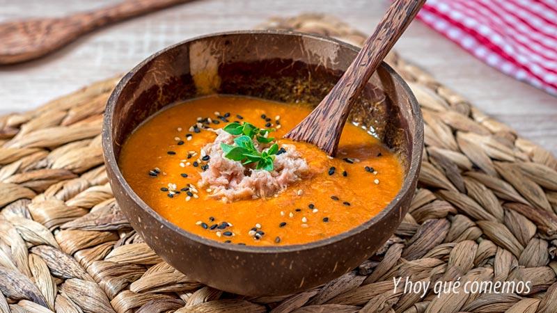 receta de crema de tomate en conserva con atun de lata facil y rapida
