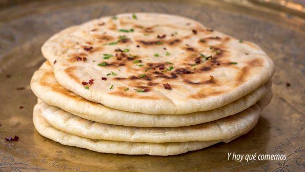 receta de pan plano indio a la sarten