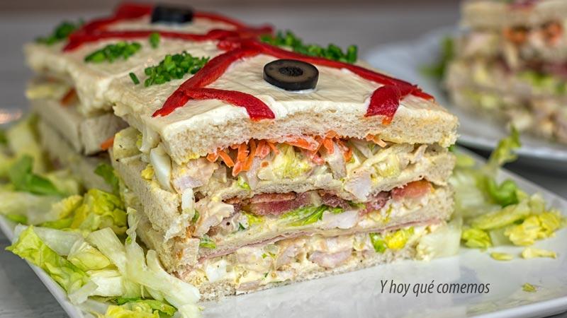 pastel de pollo con pan de molde facil y rapido para fiestas