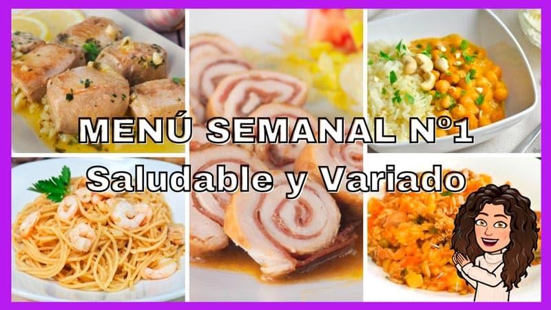 menú semanal nº 1 variado y saludable