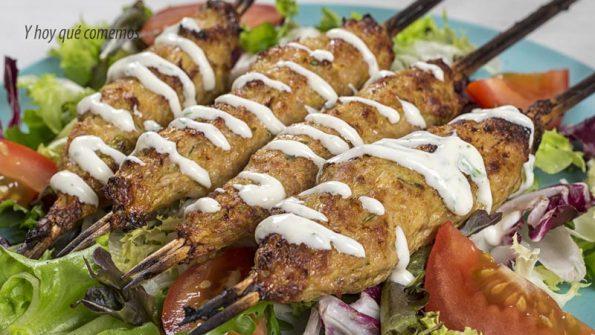receta pinchos de pollo estilo kebab