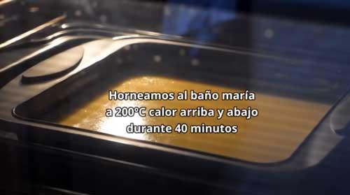 hornear el quesillo de calabaza