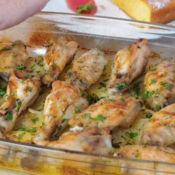 receta facil de alitas de pollo al horno