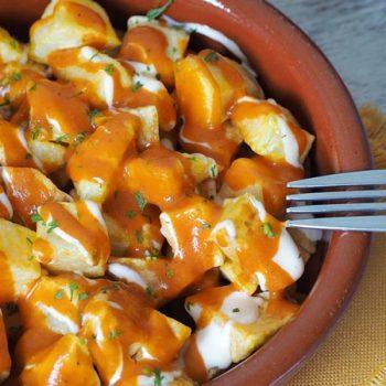 paso a paso patatas bravas