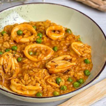 receta de arroz melosos con calamares